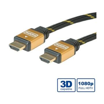 Nilox ROLINE 11.04.5508 cavo HDMI 15 m HDMI tipo A (Standard) Nero, Oro