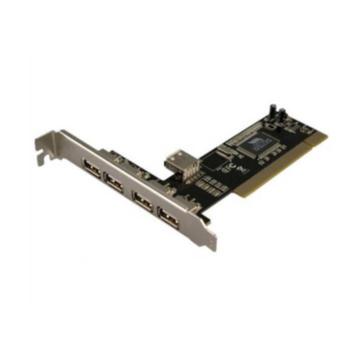 Nilox Scheda PCI USB 2.0 4+1, 480 Mbps