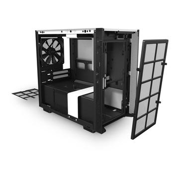 NZXT H210i Mini-ITX Mini Tower Nero, Bianco