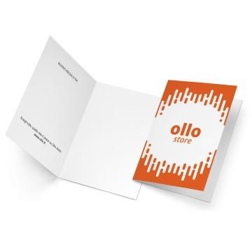 Ollo Buono regalo Arancione. Bianco
