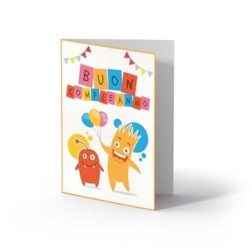 Ollo Buono regalo per Compleanno Multicolore Motivo festoso