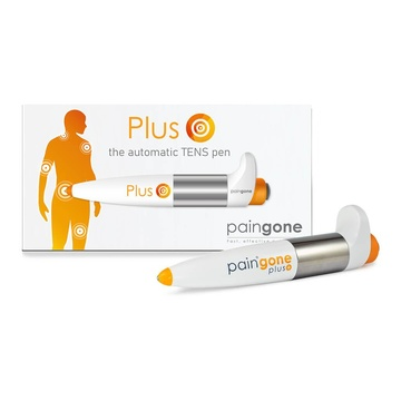 Paingone Plus Transcutaneous Electrical Nerve Stimulation (TENS) Arancione, Acciaio inossidabile, Bianco
