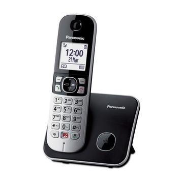 Panasonic KX-TG6851JTB Identificatore di chiamata Nero, Grigio