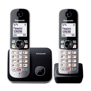 Panasonic KX-TG6852JTB Identificatore di chiamata Nero, Grigio