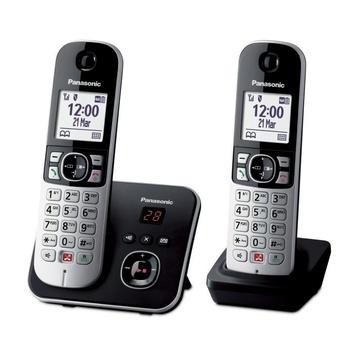 Panasonic KX-TG6862JTB Identificatore di chiamata Nero, Argento