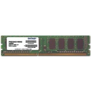 Patriot RAM DIMM 4GB DDR3 1600MHZ PSD34G16002