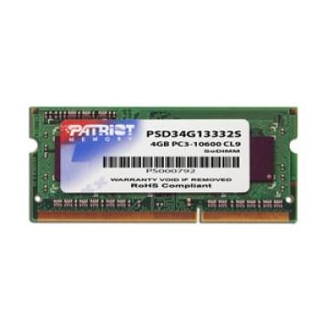 Patriot SODIMM DDRIII 4GB 1333MHZ PER NOTEBOOK PSD34G13332S