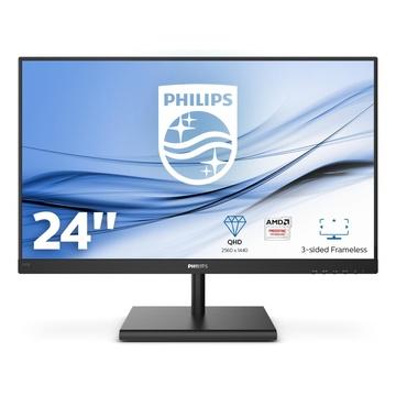 """Philips E Line 245E1S/00 LED 23.8"""" 2K Ultra HD LCD Nero"""