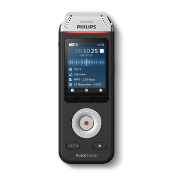 Philips Voice Tracer DVT2110/00 Flash card Nero, Cromo