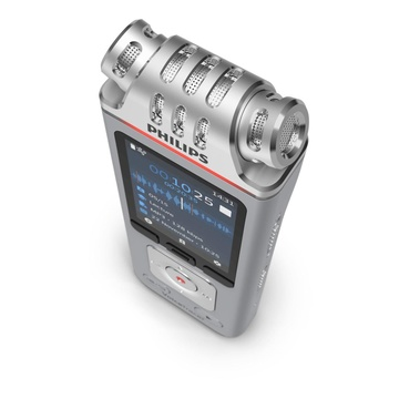 Philips Voice Tracer DVT4110/00 dittafono Flash card Cromo, Argento