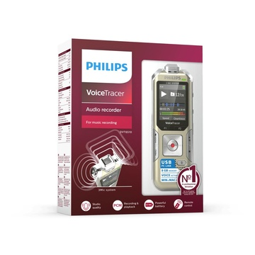Philips Voice Tracer DVT6510 dittafono Champagne, Argento