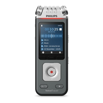 Philips Voice Tracer DVT7110/00 dittafono Flash card Antracite, Cromo