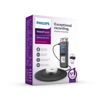 Philips Voice Tracer DVT8110/00 dittafono Flash card Antracite, Cromo