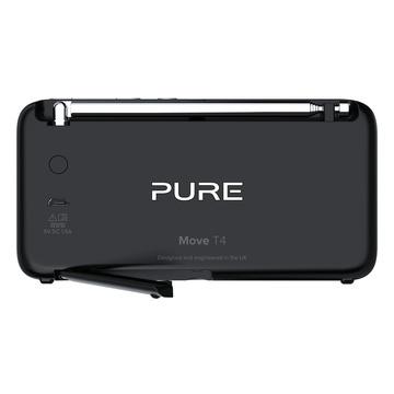 Pure 152224 Portatile Digitale Nero, Argento