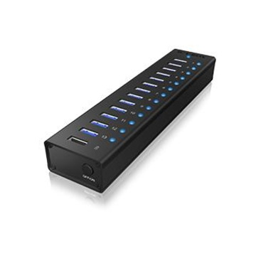 RaidSonic ICY BOX IB-AC6113 USB 3.0 (3.1 Gen 1) Type-B 5000Mbit/s Nero