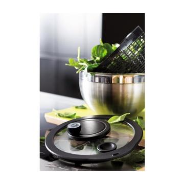 Rösle 15695 Centrifuga da insalata Nero, Inox Manovella/manico
