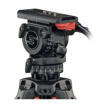 Sachtler System FSB 8 T FT MS treppiede Action camera 3 gamba/gambe Nero