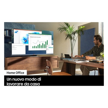 "Samsung Crystal UHD 4K 65"" UE65AU7170 Smart TV Wi-Fi 2021 Grigio"