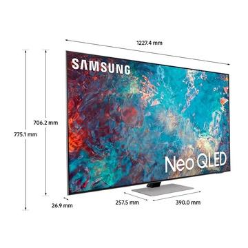 "Samsung QE55QN85A TV Neo QLED 4K 55"" Smart TV Wi-Fi Eclipse Silver 2021"