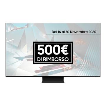 """Samsung QE75Q950TST 75"""" 8K Ultra HD Smart TV Wi-Fi Nero, Acciaio inossidabile"""