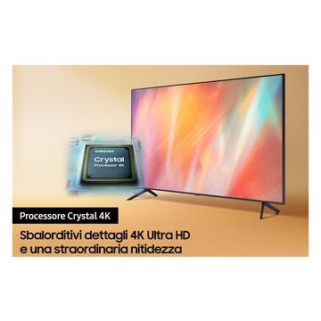 """Samsung TV Crystal UHD 4K 75"""" UE75AU7170 Smart TV Wi-Fi 2021 Grigio"""