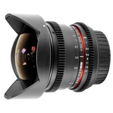 Samyang 8mm t/3.8 VDSLR UMC CSII Canon EF-S