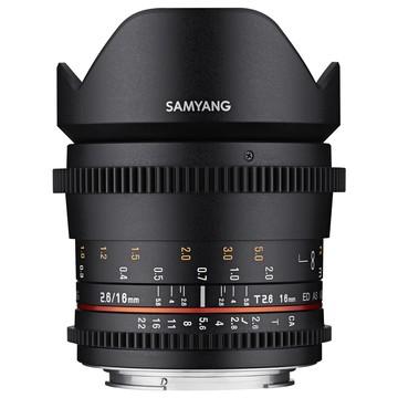 Samyang 16mm t/2.6 ED AS UMC VDSLR II Canon M