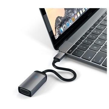 Satechi Cavo Adattatore da USB di Tipo C a VGA 1080p/60Hz Grigio siderale