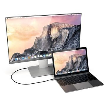 Satechi Cavo in Alluminio Tipo-C HDMI 4K (60 Hz) Grigio