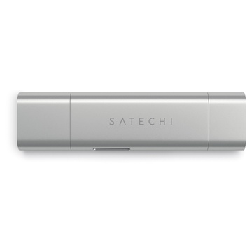 Satechi Lettore di memorie in alluminio Tipo-C USB 3.0 e lettore di schede Micro/SD per dispositivi di Tipo-C
