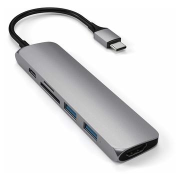 Satechi ST-SCMA2M hub di interfaccia USB 3.2 Gen 1 (3.1 Gen 1) Type-C 104 Mbit/s Argento