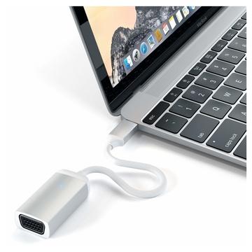 Satechi ST-TCVGAS cavo e adattatore video USB tipo-C VGA (D-Sub) Argento