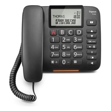 Siemens Gigaset DL380 Telefono analogico Nero