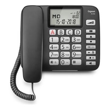 Siemens Gigaset DL580 Telefono analogico Nero