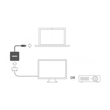 Sitecom CN-371 cavo di interfaccia e adattatore USB-C VGA Grigio