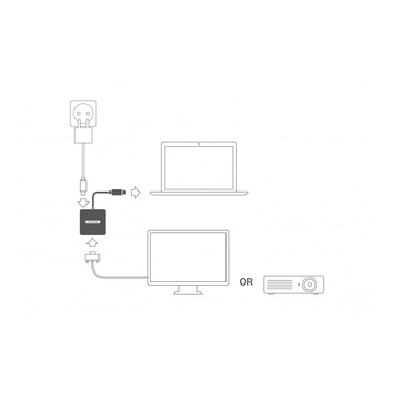 Sitecom CN-375 cavo di interfaccia e adattatore USB-C HDMI, USB-C Grigio