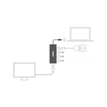Sitecom CN-380 cavo di interfaccia e adattatore USB-C HDMI, USB-C, 3x USB 3.0 Grigio