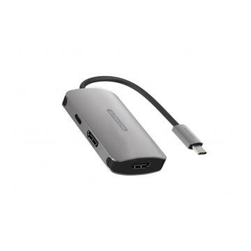 Sitecom CN-398 hub di interfaccia USB 3.2 Gen 1 (3.1 Gen 1) Type-C Alluminio, Nero