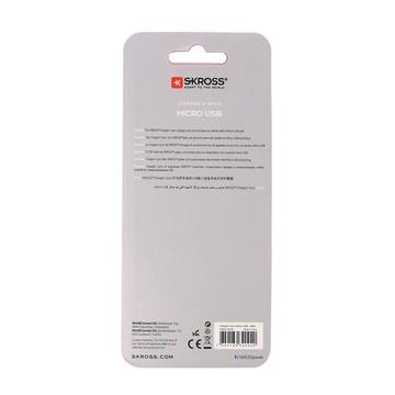 Skross 2.700240 1 m USB A Micro-USB A Maschio Bianco