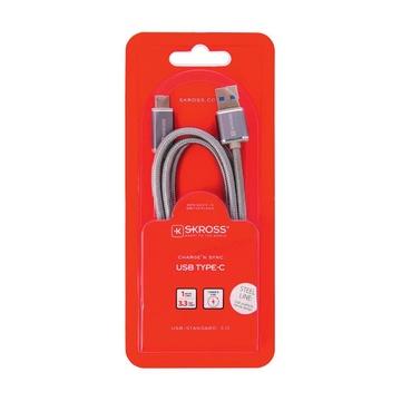 Skross 2.700243 cavo USB 1 m USB A USB C Maschio Argento