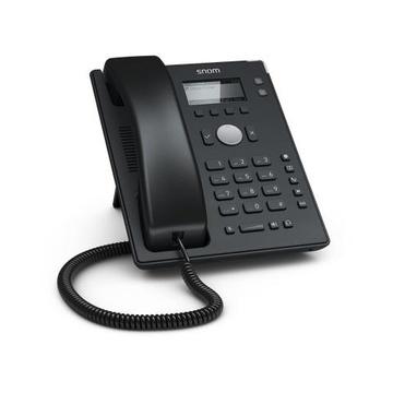 SNOM D120 telefono IP Nero Cornetta cablata 2 linee