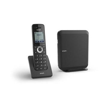 SNOM M215 SC IP Cornetta wireless LCD 6 linee Nero