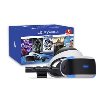 Sony PS VR Mega Pack v2 Occhiali immersivi FPV Nero, Bianco