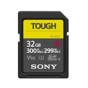 Sony 32GB SDHC Tough UHS II U3 R300MB/s W299MB/s 4k V90 IPX68