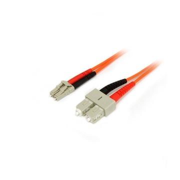 STARTECH 50FIBLCSC5 cavo a fibre ottiche 5 m LC SC OM2 Arancione