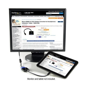 STARTECH Adattatore convertitore Micro HDMI a VGA per smartphone/ultrabook/tablet - 1920x1080