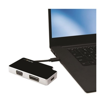 STARTECH Adattatore da Viaggio Audio/Video 3 in 1 - USB-C a VGA, DVI o HDMI - 4K