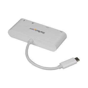 STARTECH Adattatore Multiporta per Portatili USB-C - Power Delivery - DVI - GbE - USB 3.0