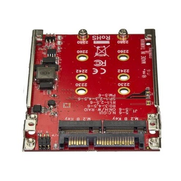 STARTECH Adattatore per 2 Dischi SSD M.2 a SATA per alloggio da 2,5