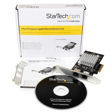 STARTECH Adattatore Server di rete Gigabit PCI Express a due porte
